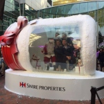 Wayne inside the giant Christmas Jar in Hong Kong