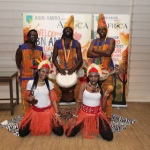 Drummers with dancers for African theme event