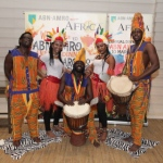 African drummers with dancers at annual dinner event