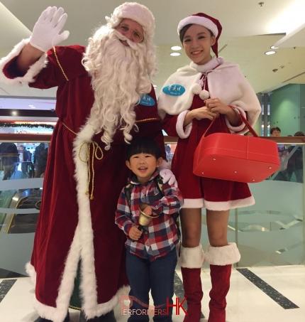 Santa clause waving Hong Kong
