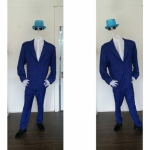 Dark Blue Suit headless man costume