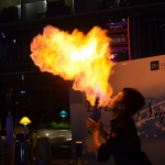 Flair and fire, combining for an awesome bartender skills show