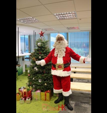 Santa in office in Hong Kong