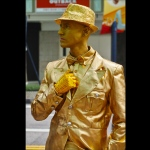 Gold man statue in whampoa