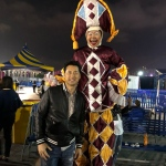 Gala stilts with Micheal Wong