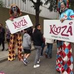 Gala stilts performers at Kooza Promo