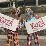 Gala Stilts performers at HK stadium promotion at HK Stadium rugby 7s