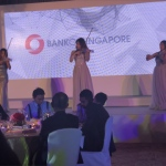LED Violist performance for bank event