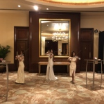 performance at ballroom with LED violinist