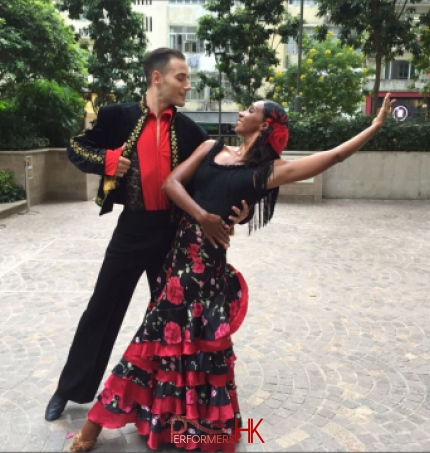 couple dance flamenco in wan chai lee tung avenue hong kong