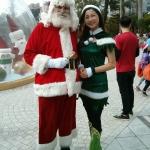 santa hong kong at an event with santa girl kimmy