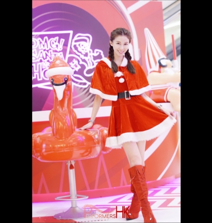 Suki mira mall tst wearing santa girl outfit