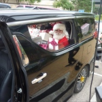 santa in car hong kong