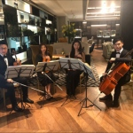 String players at an event