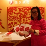 Zodiac cutting artist at a corporate event in Hong Kong