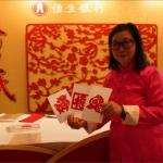 Zodiac cutting artist at a corporate event in Hong Kong