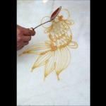 gold fish Sugar painting (糖画)