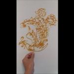 pheonix Sugar painting (糖画) art