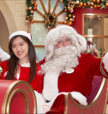 high quality costume santa with santa girl
