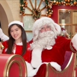 Santa Jay with Santa girl in sleigh