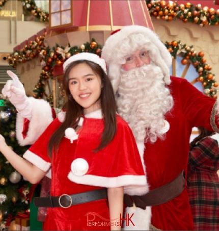 high quality costume santa performer in tst hong kong