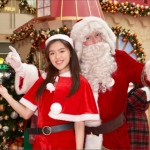 Santa Jay with Santa girl during xmas 2019