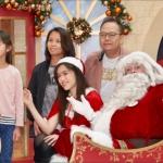 Santa with a family