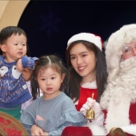 Santa with 2 kids and santa girl