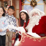 Santa Jay with kids interacting