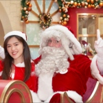 Santa with Santa girl at Elements Xmas 2019