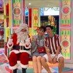 Santa Gerard at mira mall with couple