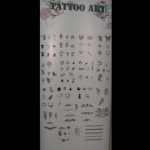 Different styles available for spray on tattoos.